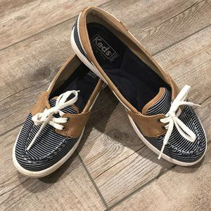 Keds Nautical Tie Boat Shoes Blue White St…